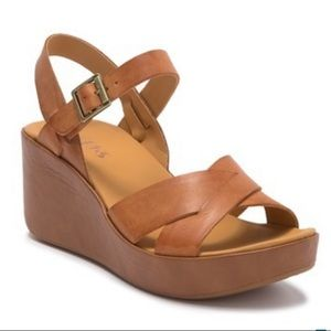 KORKS BY KORK EASE | Denica Wedge Sandal Leather